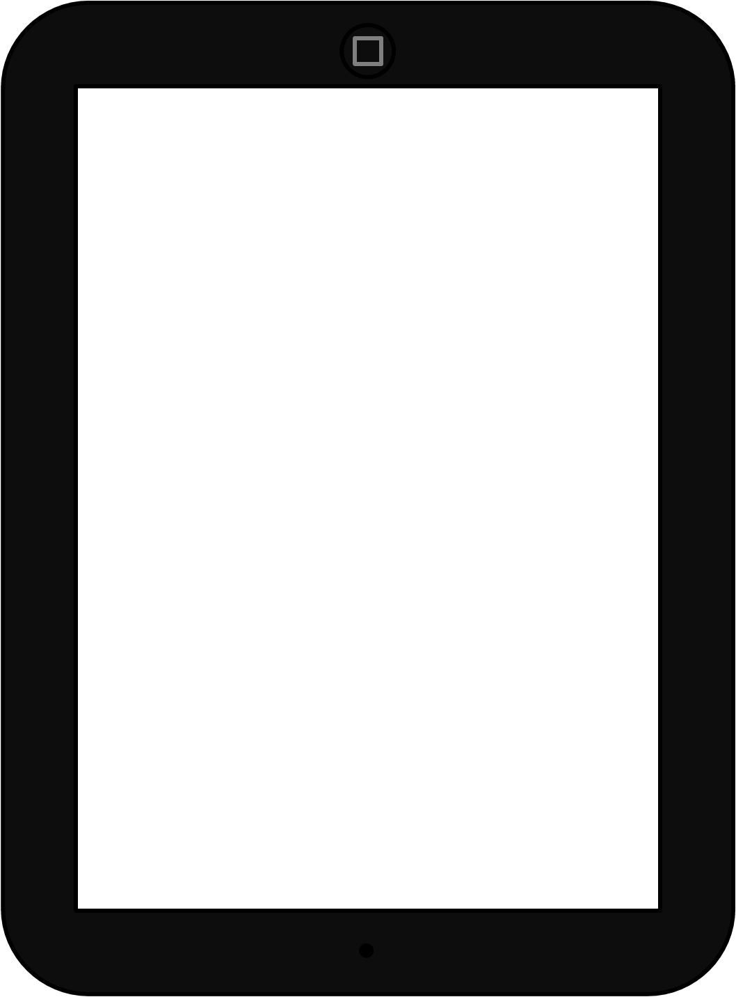 Ipad Black And White Clipart.