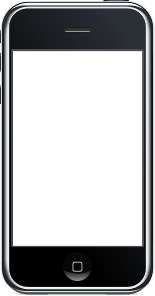 Iphone Clipart Black And White Png.