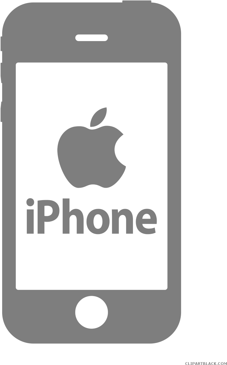 Download Iphone Clipart Black And White.