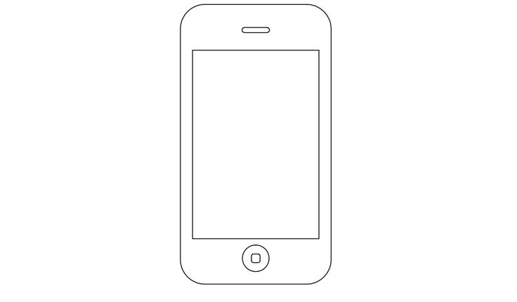 Iphone Black And White Clipart.