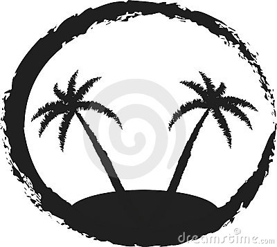 Island Clip Art Black And White.