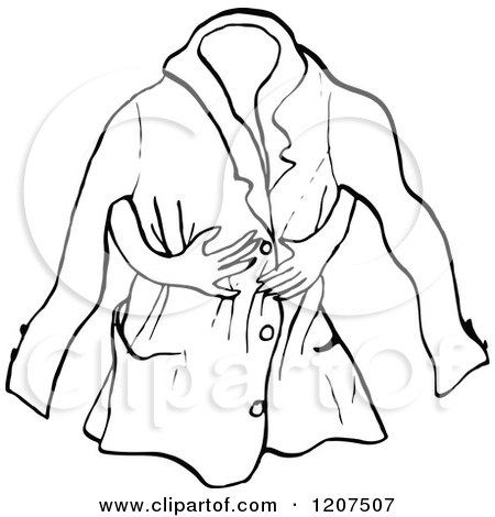 Black And White Jacket Clipart