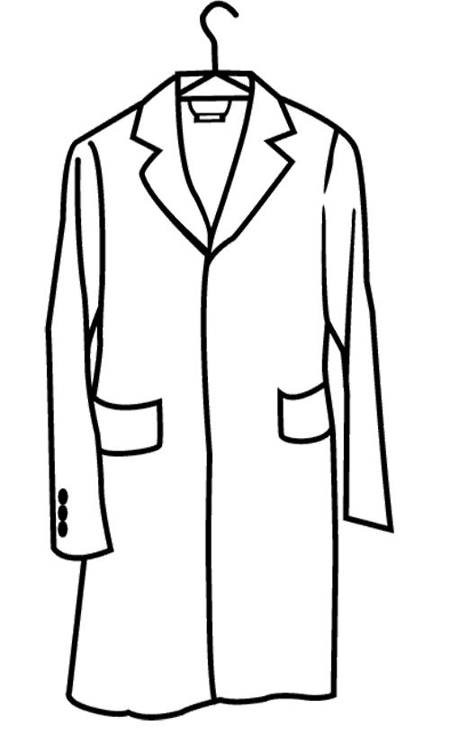 black and white jacket clipart - Clipground