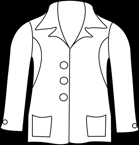Winter Coat Clipart Black And White amp Winter Coat Clip Art