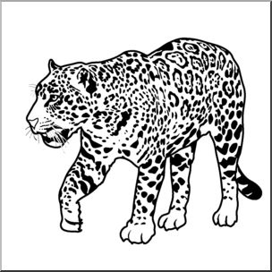 Free Jaguar Clipart Black And White, Download Free Clip Art.