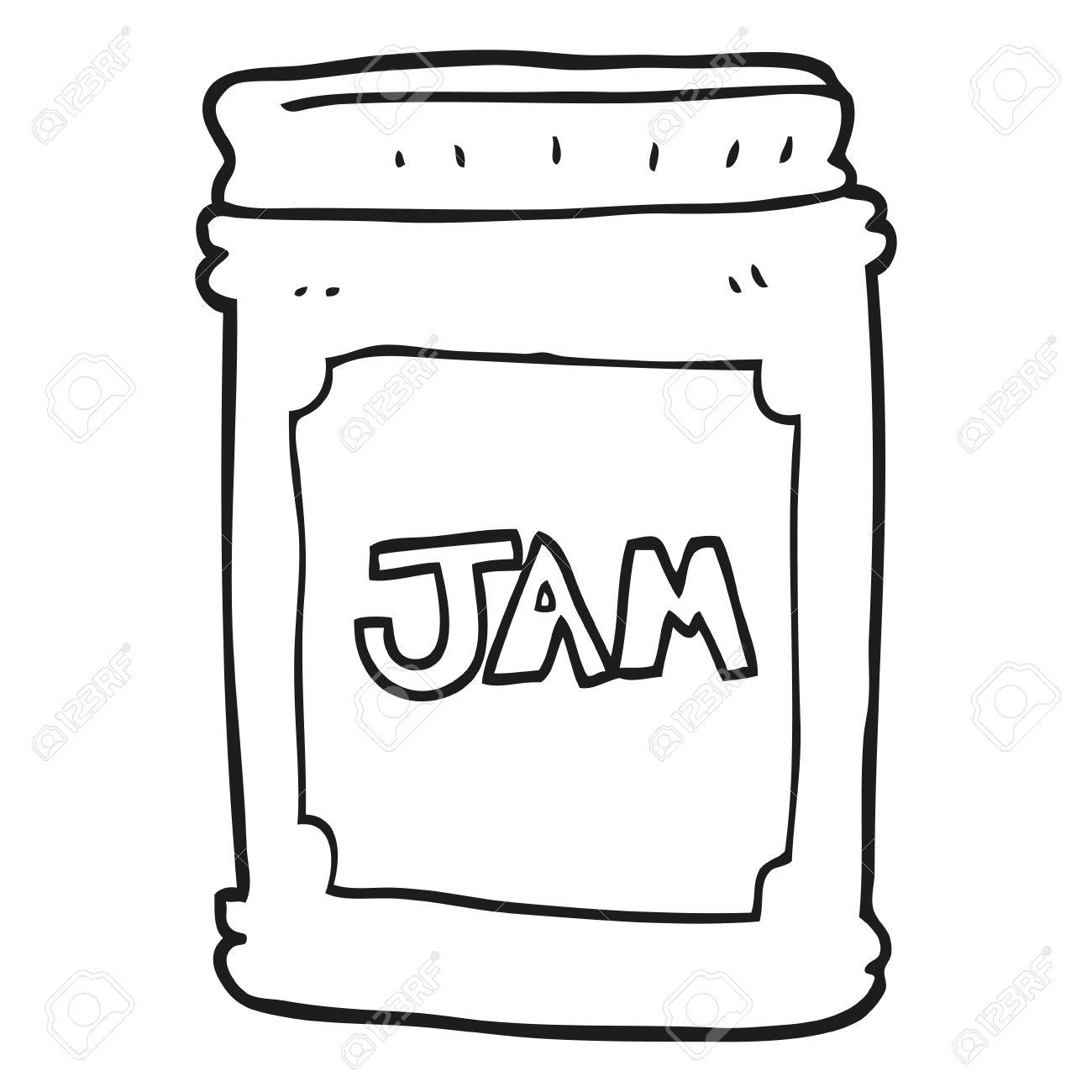 Clipart Black And White Jam.