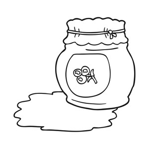 Free Jam Clipart Black And White, Download Free Clip Art.