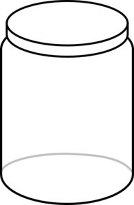 Black And White Jar Clipart.