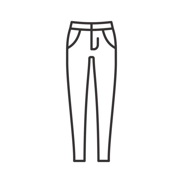Jeans Clipart Black And White.