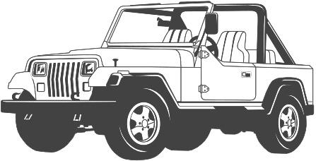 White Jeep Clipart.