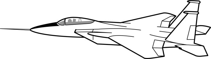 Fighter Jet Clipart Black And White.