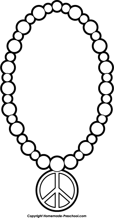 1484 Necklace free clipart.