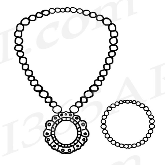 50% OFF Jewelry Clipart, Jewelry Clip art, Pearl Necklace.
