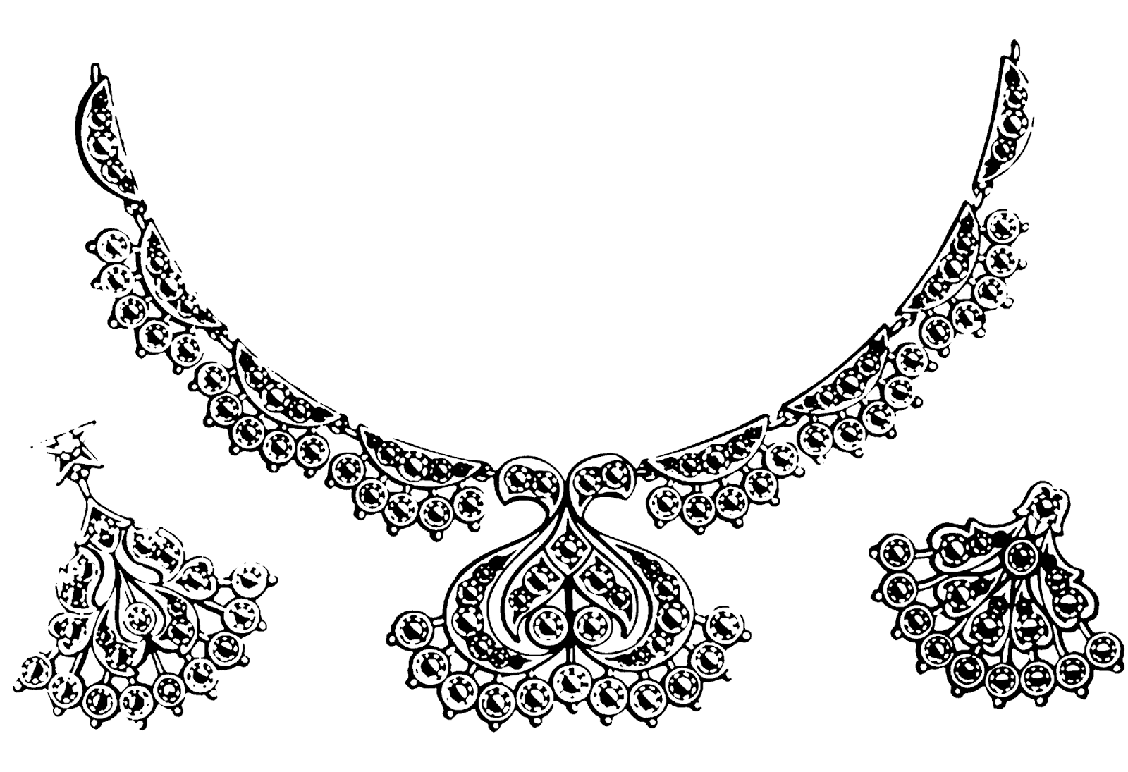 Free Jewelry Clipart Black And White, Download Free Clip Art.