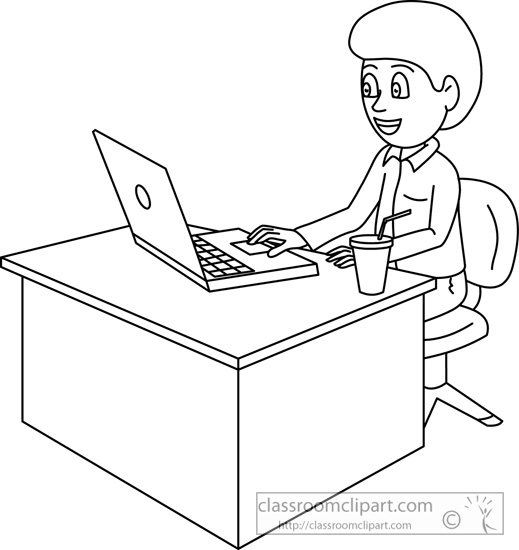 Work Clipart Black And White.