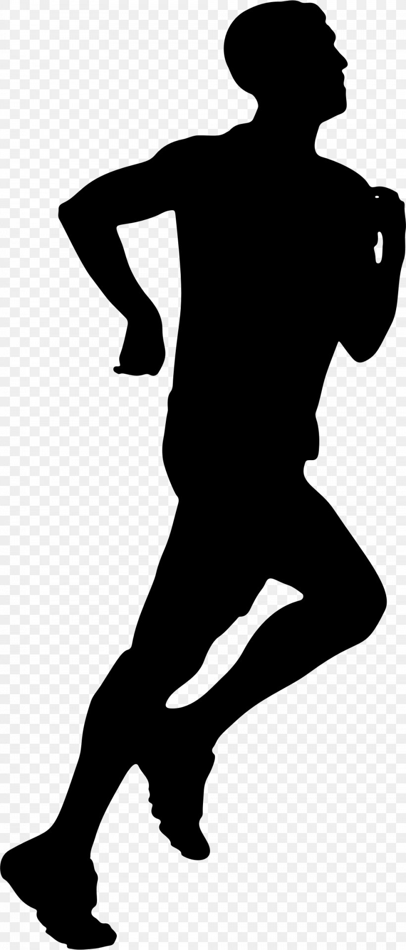 Jogging Silhouette Running Clip Art, PNG, 984x2300px.
