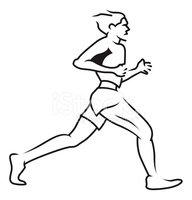 Man Jogging Stock Vector.
