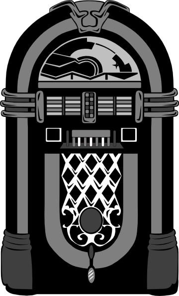 Jukebox Black And White Nubbs Clip Art at Clker.com.