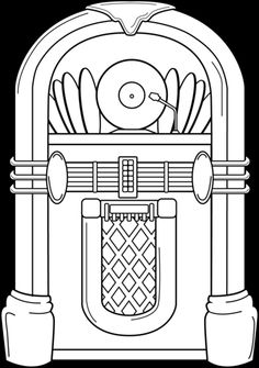 Free Jukebox Black And White, Download Free Clip Art, Free.