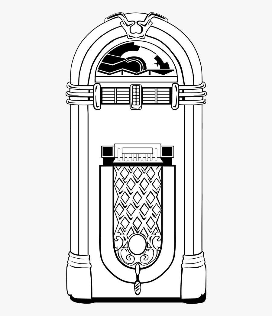 Jukebox Black And White , Free Transparent Clipart.
