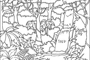 Black And White Jungle Clipart.