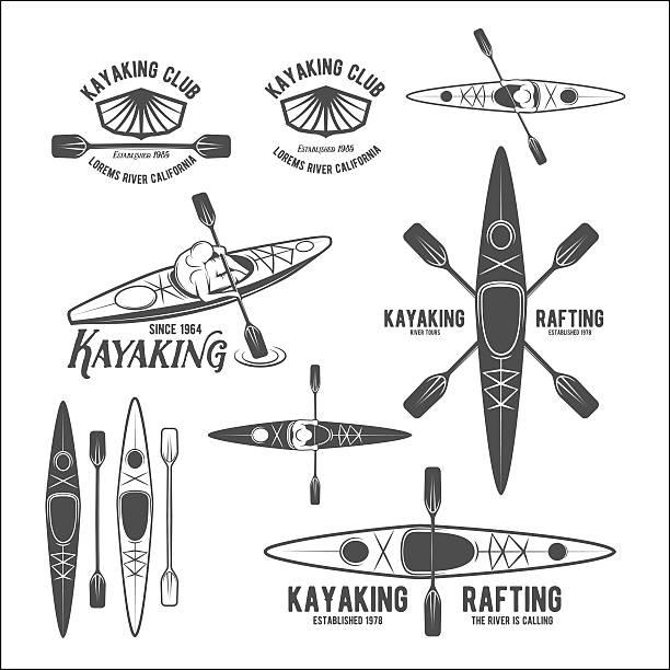 Best Kayak Illustrations, Royalty.
