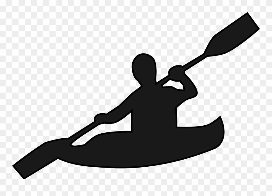 Kayak Clipart Black And White.