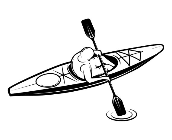 Kayak Clipart Black And White (92+ images in Collection) Page 2.