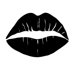Kiss Lips Clipart Black And White.
