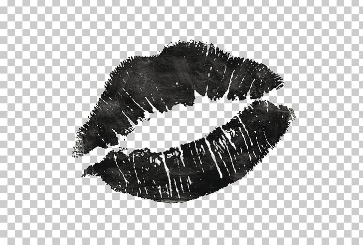 Lip Kiss Black And White PNG, Clipart, Background Black.
