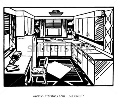 Kitchen clipart black and white 2 » Clipart Station.