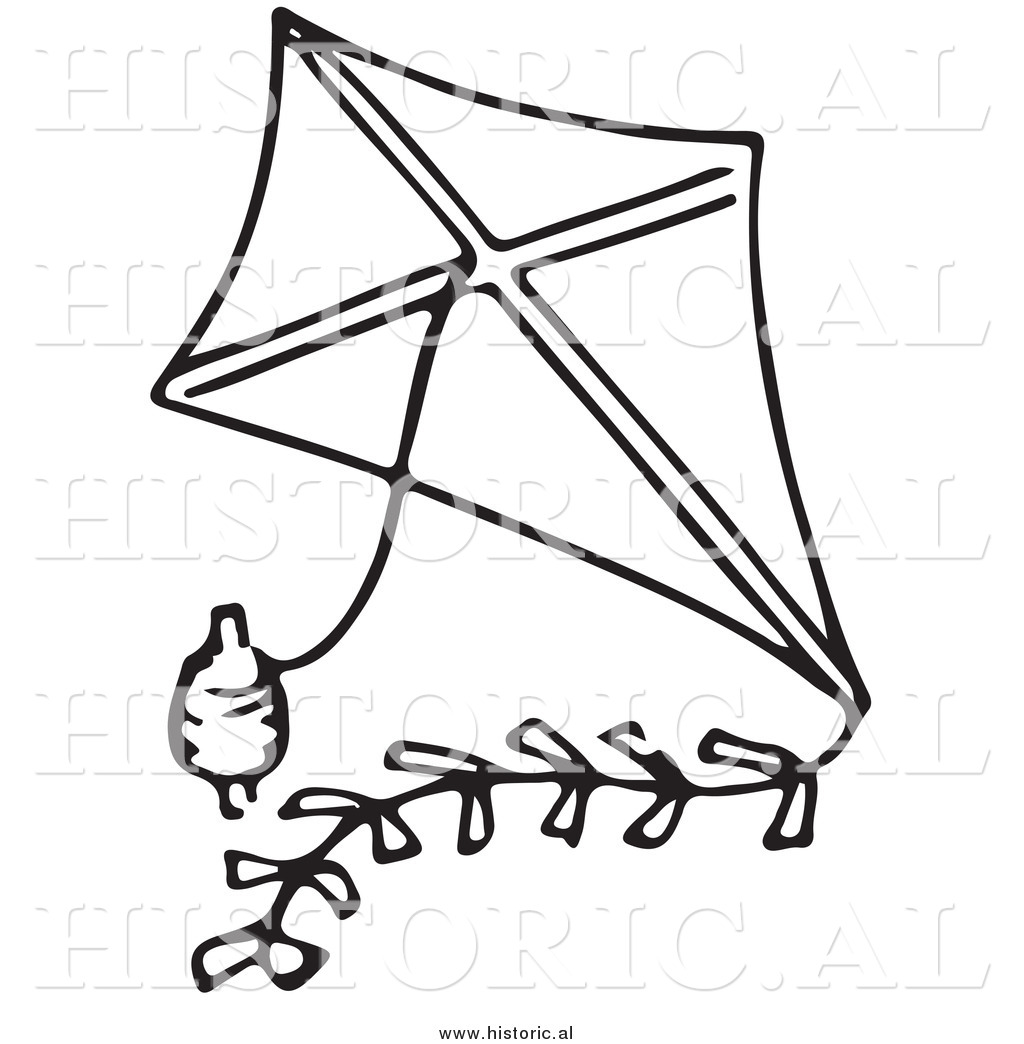 Kite clipart black and white 6 » Clipart Station.