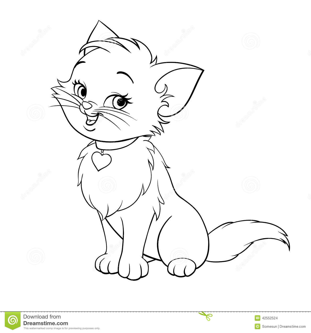 Kitten clipart black and white » Clipart Station.