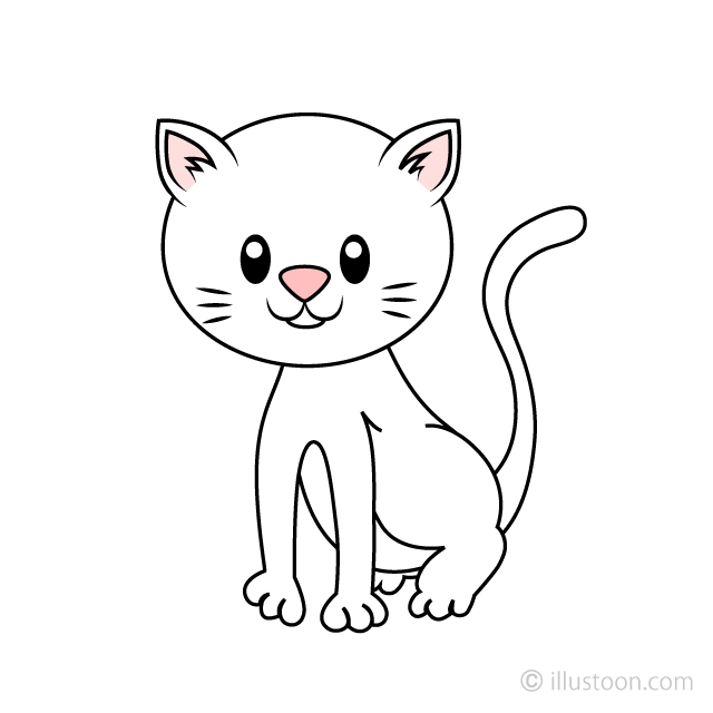 Free White Kitten Clipart Image|Illustoon.