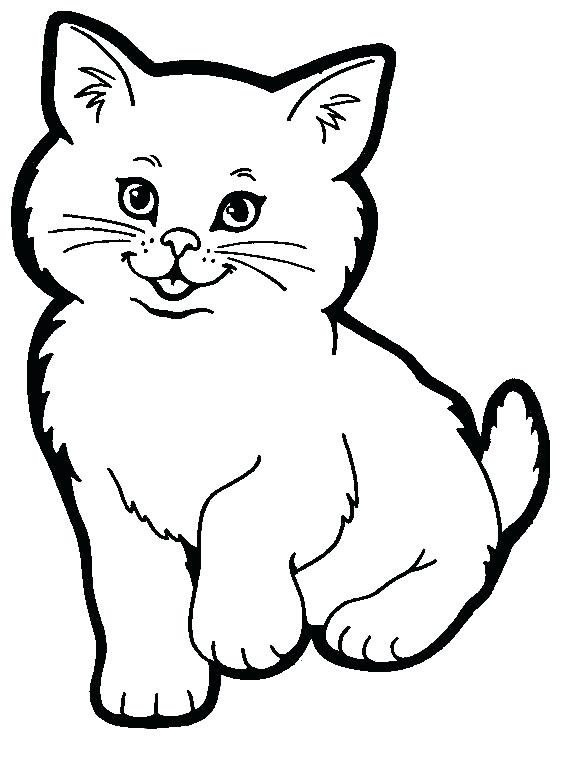 Clipart Of Cat Black And White.