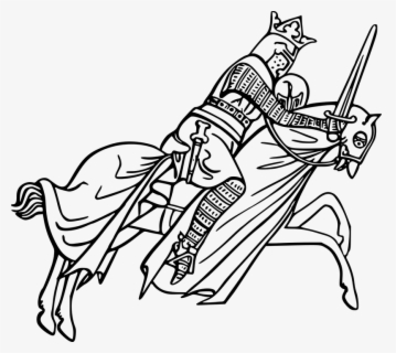 Free Knight Black And White Clip Art with No Background.