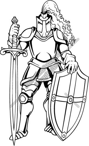 White Knight Clipart.
