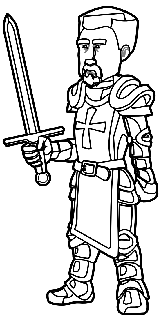 Knight Clipart Black And White.