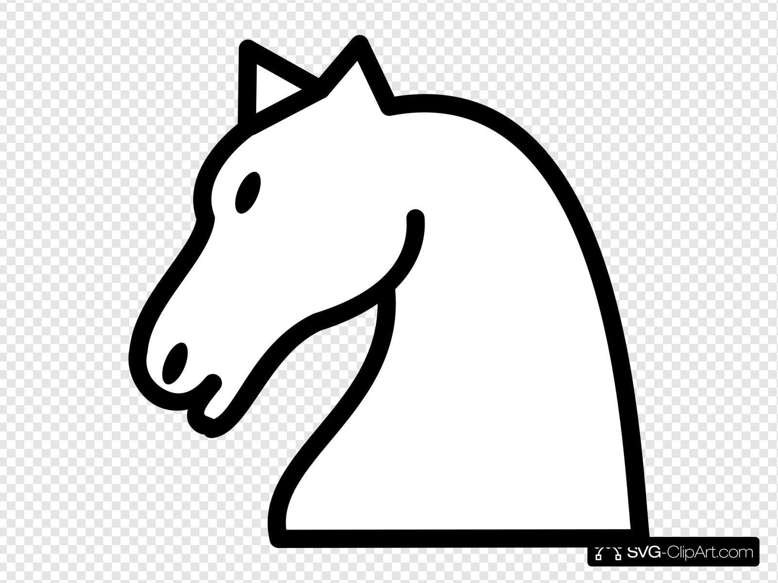 White Knight Clip art, Icon and SVG.