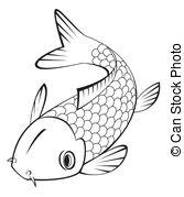 Koi Fish Clipart Black And White.