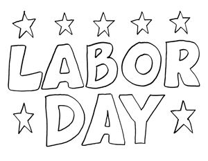 Labor day black and white clipart.