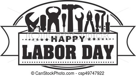 Labor day clipart black and white 3 » Clipart Station.