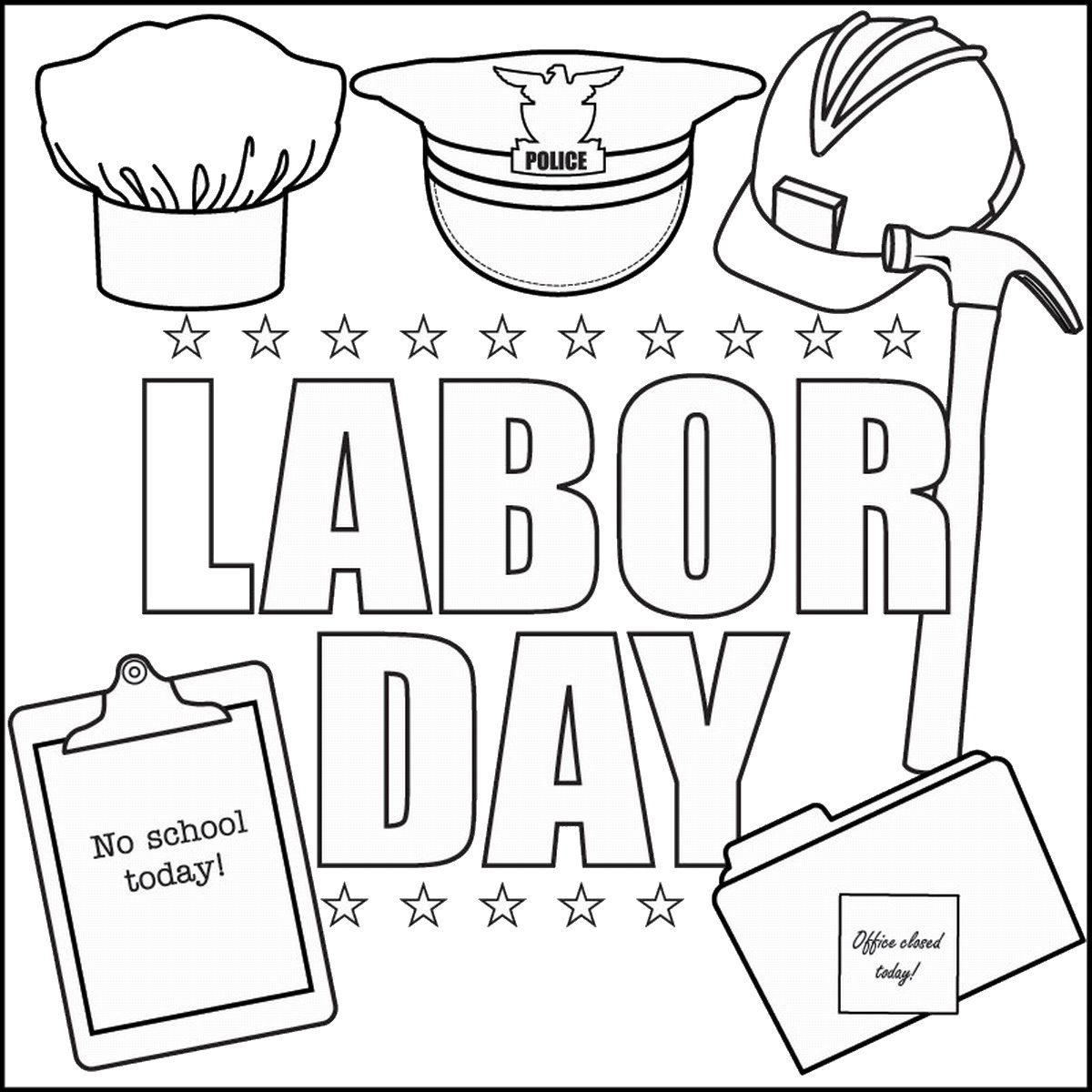 Labor day clipart black and white 1 » Clipart Station.