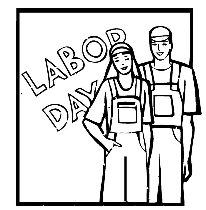Free Labor Day Black And White Clipart, Download Free Clip.