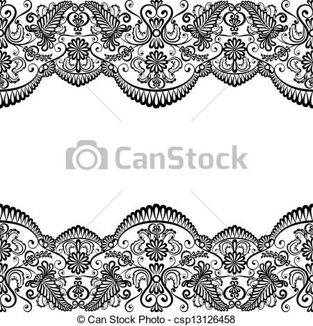 2392 Lace free clipart.