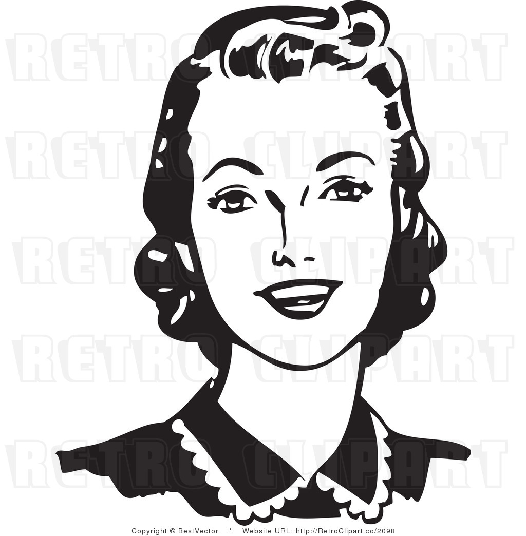Lady clipart black and white 4 » Clipart Station.