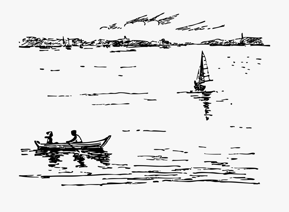 Lake Clipart Lake Boat.