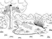 Image result for fish in the pond clipart+black and white.