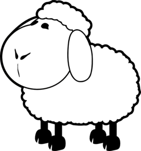 Lamb Clipart Black And White.