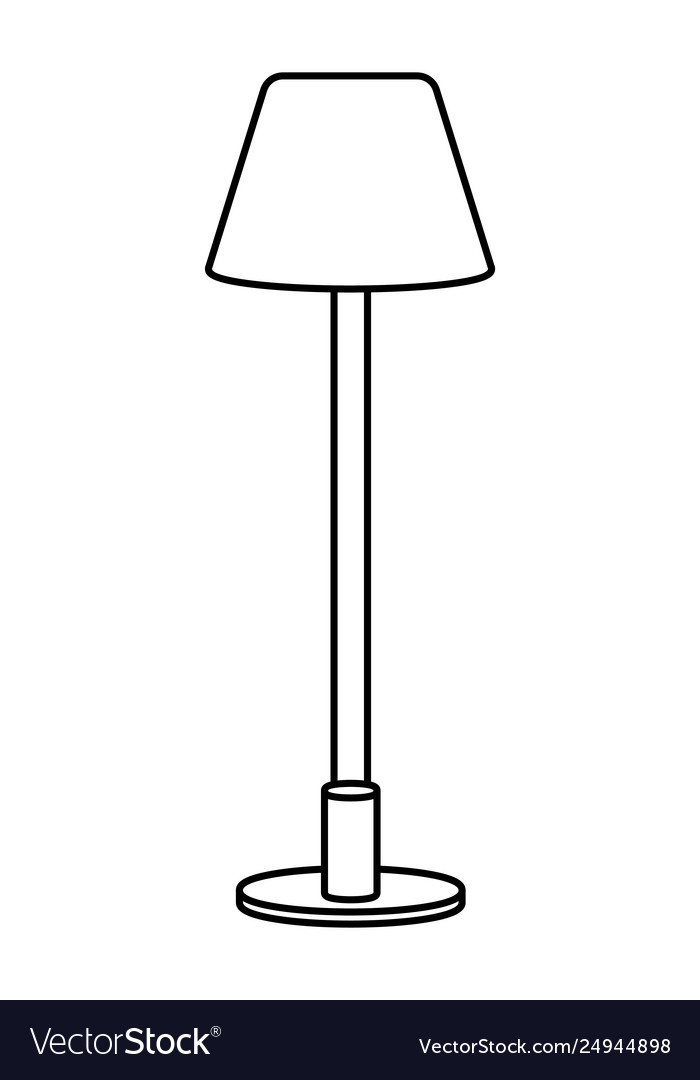 Lamp icon cartoon black and white.